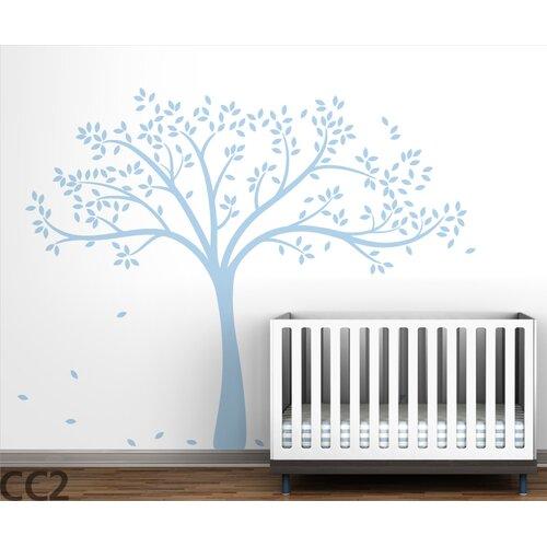 LittleLion Studio Trees Monochromatic Fall Wall Decal