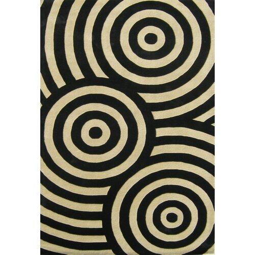 Alliyah Rugs Alliyah Black/Beige Geometric Rug