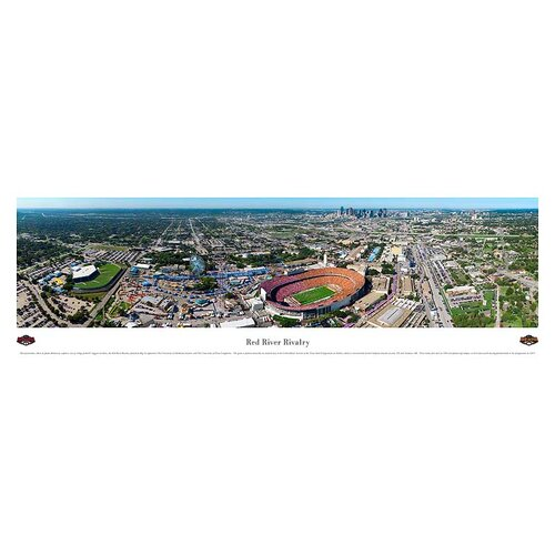 NCAA Red River Rivalry - 50 Yard Line Photographic Print