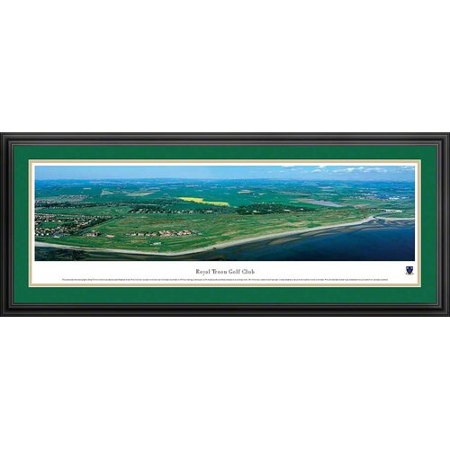 Blakeway Worldwide Panoramas, Inc Royal Troon by James Blakeway Framed Photographic Print