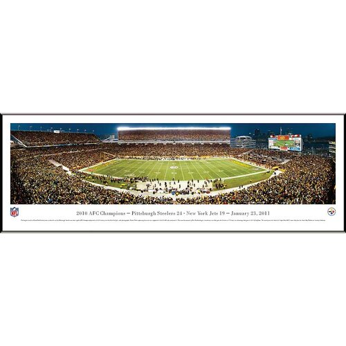 Blakeway Worldwide Panoramas, Inc NFL Pittsburgh Steelers - AFC Champions by Robert Pettit Standard Framed Photographic Print