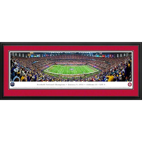 Blakeway Worldwide Panoramas, Inc NCAA BCS Football Championship 2012 Deluxe Framed Photographic Print