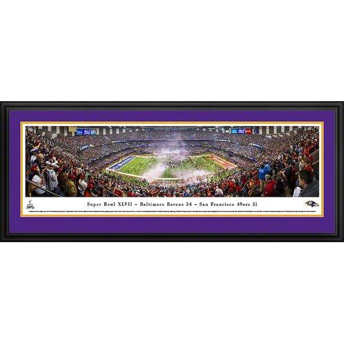 Blakeway Worldwide Panoramas, Inc NFL Super Bowl 2013 by Christopher Gjevre Framed Photographic Print