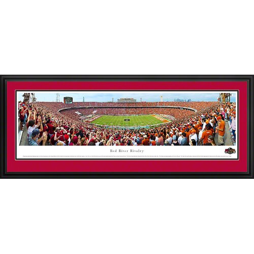 Blakeway Worldwide Panoramas, Inc NCAA Red River Rivalry - End Zone Deluxe Framed Photographic Print