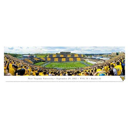 NCAA West Virginia University - by Christopher Gjevre Stripe Photographic Print