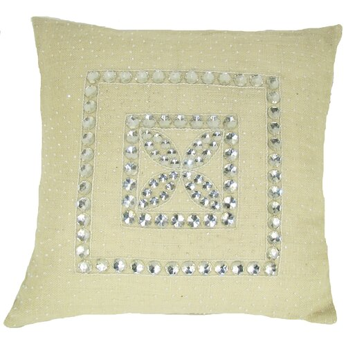 Design Accents LLC Jewel Frame Jute Pillow