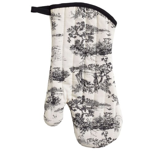 French Toile Oven Mitt