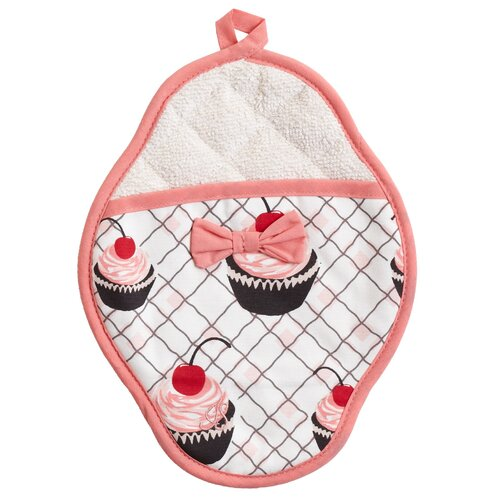 Cherry Cupcakes Scalloped Pot Mitt