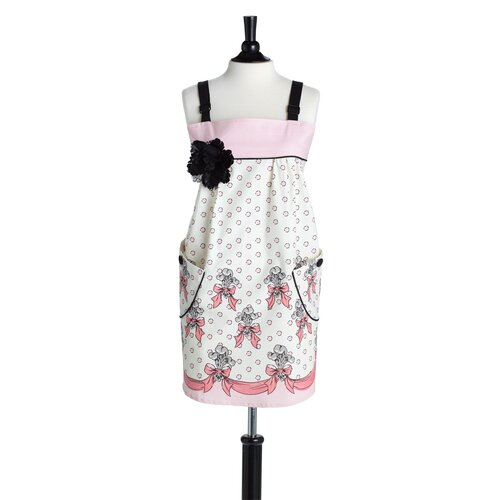 Feather De Lis Bib Mia Apron