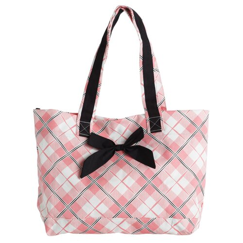 Jessie Steele Pretty In Plaid Tote Bag with Bow