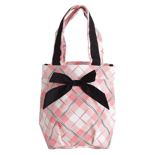 Jessie Steele Pretty In Plaid Lunch Tote Bag with Bow
