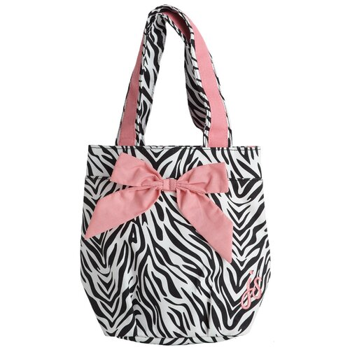Zebra Lunch Tote Bag with Bow