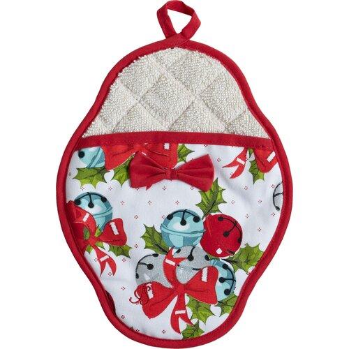 Jingle Bells Scalloped Pot-Mitt
