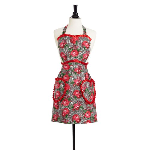Leopard Floral Convertible Sweetheart Apron