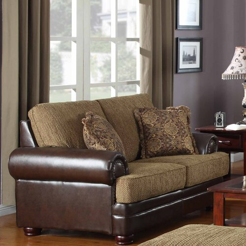Emerald Home Furnishings Hamilton Chenille Loveseat