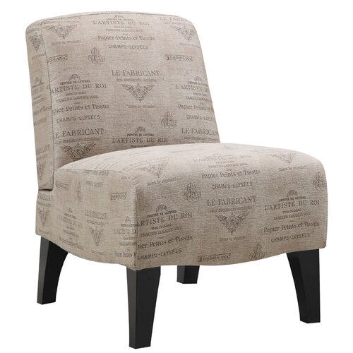 Emerald Home Furnishings Carrie Fabric Slipper Chair