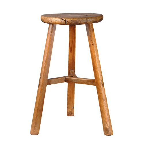 Antique Revival Farm Style 3 Legged Stool Amp Reviews Wayfair