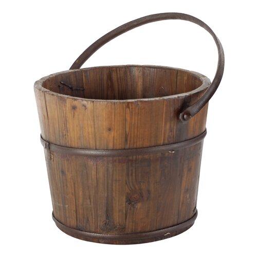 Vintage Wooden House Bucket