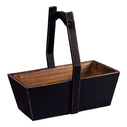 Rectangular Planter with Wooden Handle