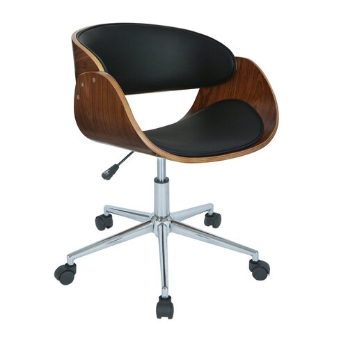 Antique revival monroe mid back office chair amp reviews wayfair