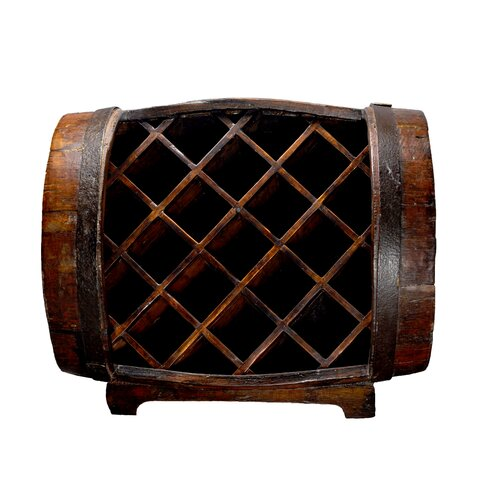 11 Bottle Barrel Wine Rack