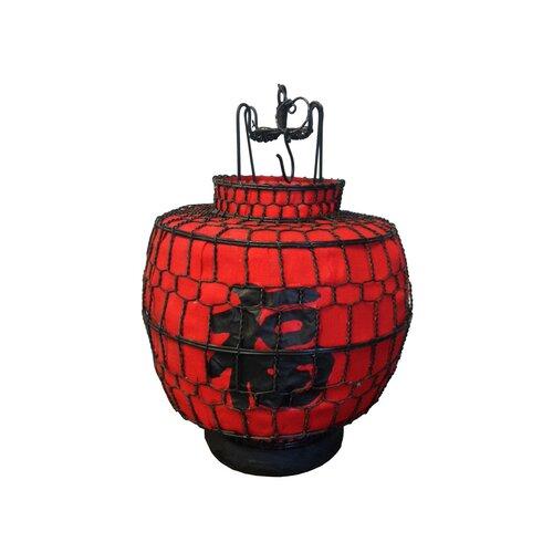Chinese Round Lucky Lantern Figurine