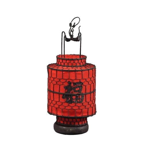 Chinese Cylindrical Lucky Lantern Figurine
