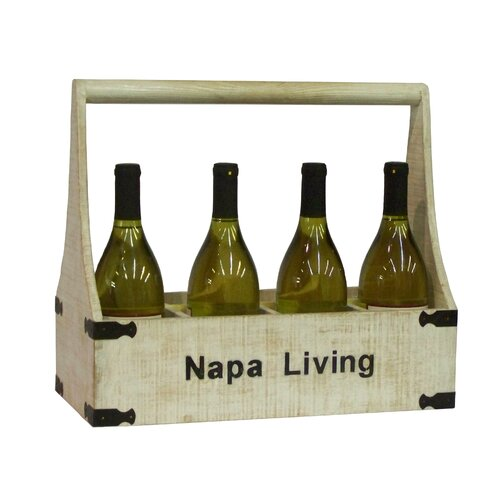 Antique Revival Napa Living 8 Bottle Wine Holder