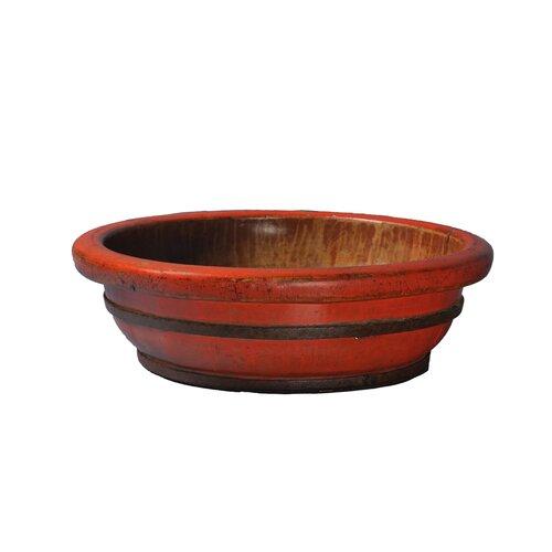 Vintage Round Decorative Wooden Basin