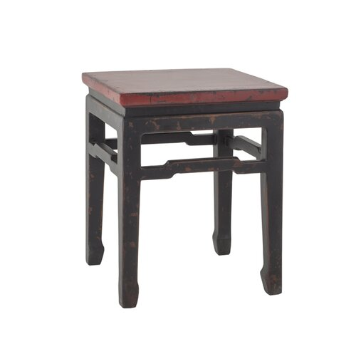 Antique Revival Chinese Square Side Table