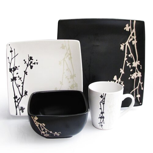 Twilight Blossom 16 Piece Dinnerware Set