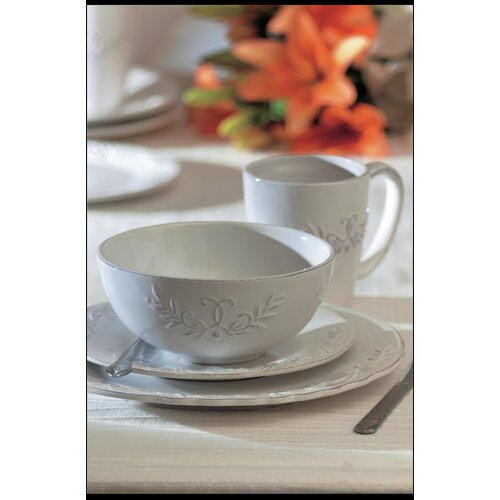 American Atelier Bianca Laurel 16 Piece Dinnerware Set