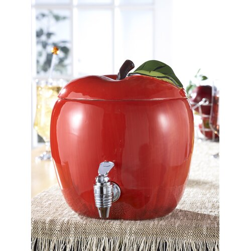 Ceramic Apple Beverage Dispenser