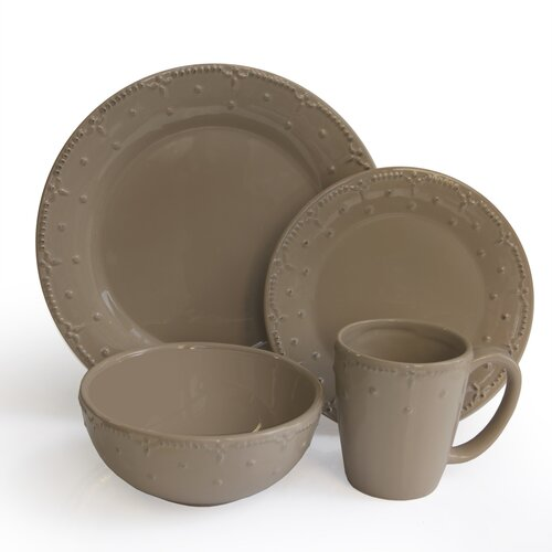 Genevieve 16 Piece Dinnerware Set