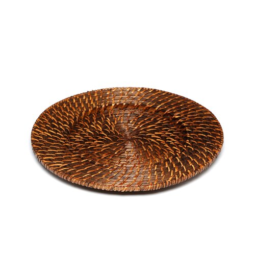 """ChargeIt! by Jay 13"""" Round Rattan Charger Plate"""