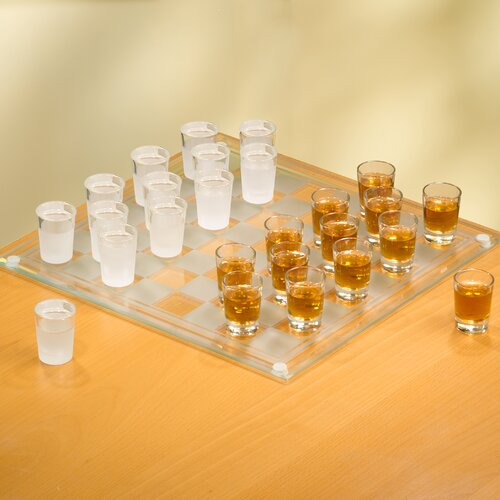 Crystal Clear Game Night 27 Piece Checker Shot Glass Set