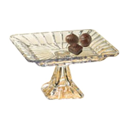 """Crystal Clear Alexandria 7.5"""" Square Platter"""