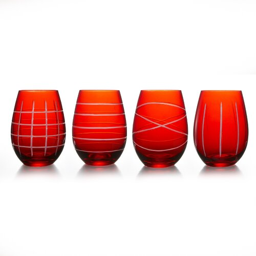 4 Piece Sarah Stemless Wine Glass Set
