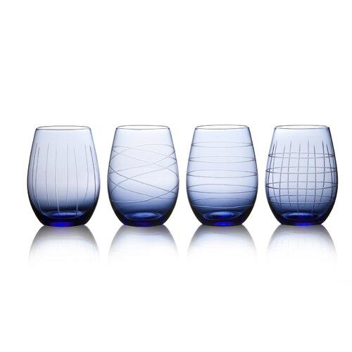 4 Piece Jameston Stemless Wine Glass Set