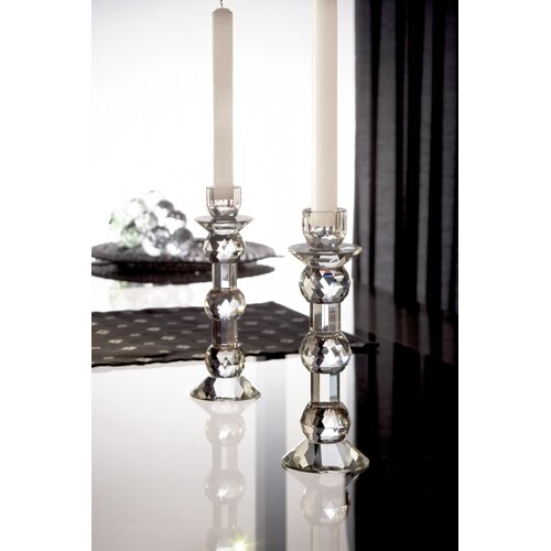 Fifth Avenue Crystal Zermat Ball Crystal Candlesticks (Set of 2)