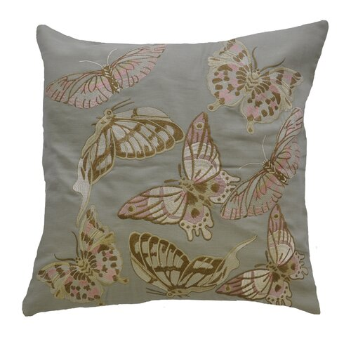 AV Home Butterfly Embroidered Linen Pillow