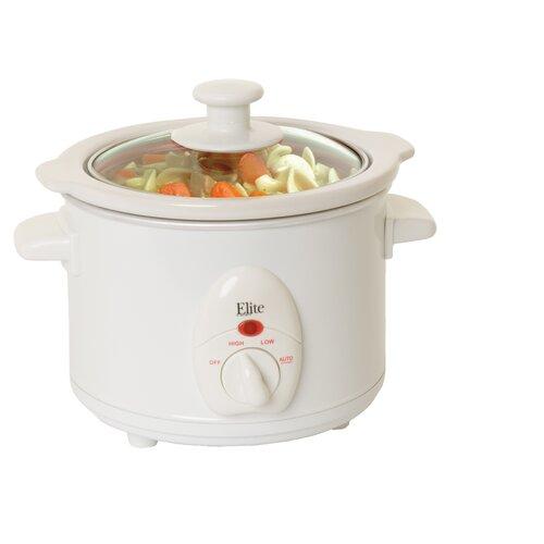 Elite Cuisine 1.5-Quart Mini Slow Cooker