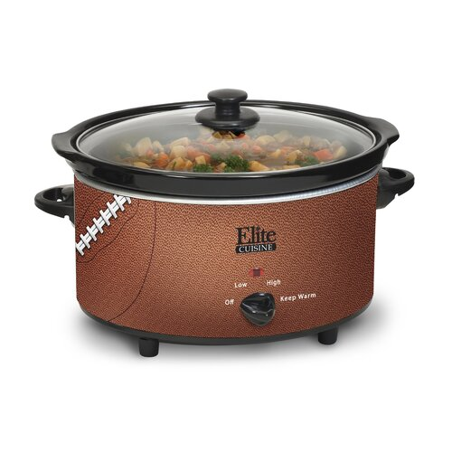 Maximatic Elite Cuisine 6-Quart Football Slow Cooker