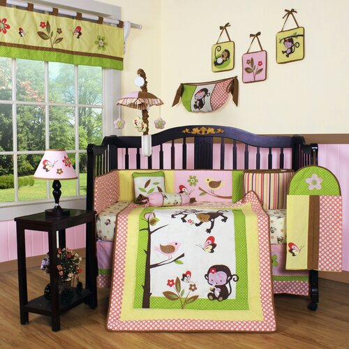 Boutique Monkey 13 Piece Crib Bedding Set