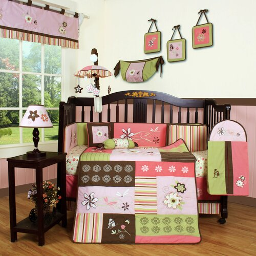 Geenny Boutique Floral Dream 13 Piece Crib Bedding Set
