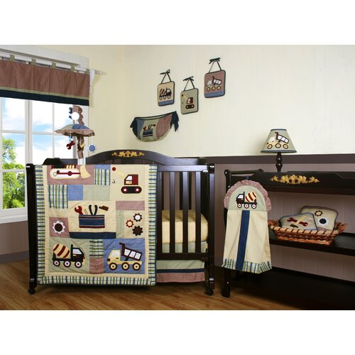 Geenny Boutique Baby Boy Constructor 13 Piece Crib Bedding Set