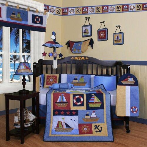 Boutique Baby Boy Sailor 13 Piece Crib Bedding Set