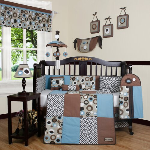 Boutique Scribble 13 Piece Crib Bedding Set