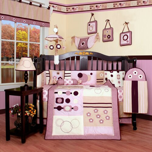 Geenny Boutique Baby Girl Artist 13 Piece Crib Bedding Set