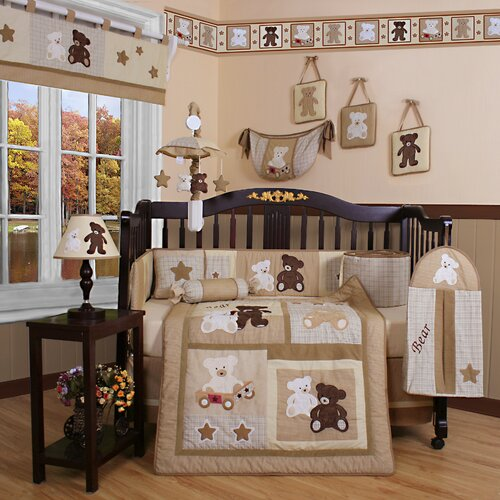 Geenny Boutique Teddy Bear 13 Piece Crib Bedding Set